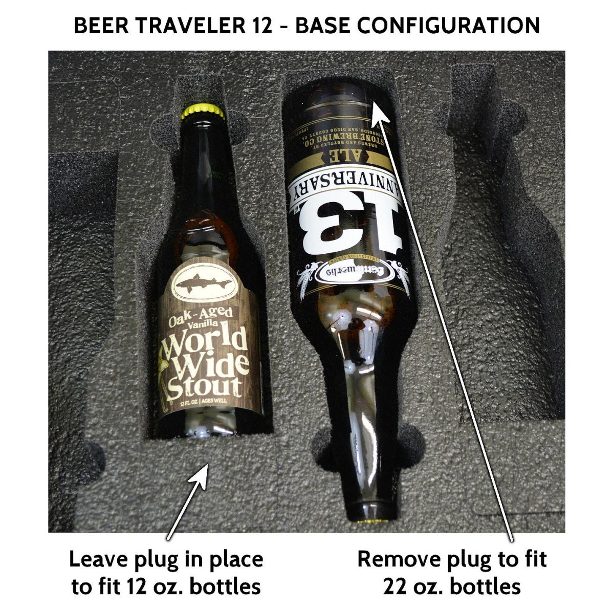 Seahorse SE-920 BC Beer Traveler 12 Custom Foam Case - Base Configuration