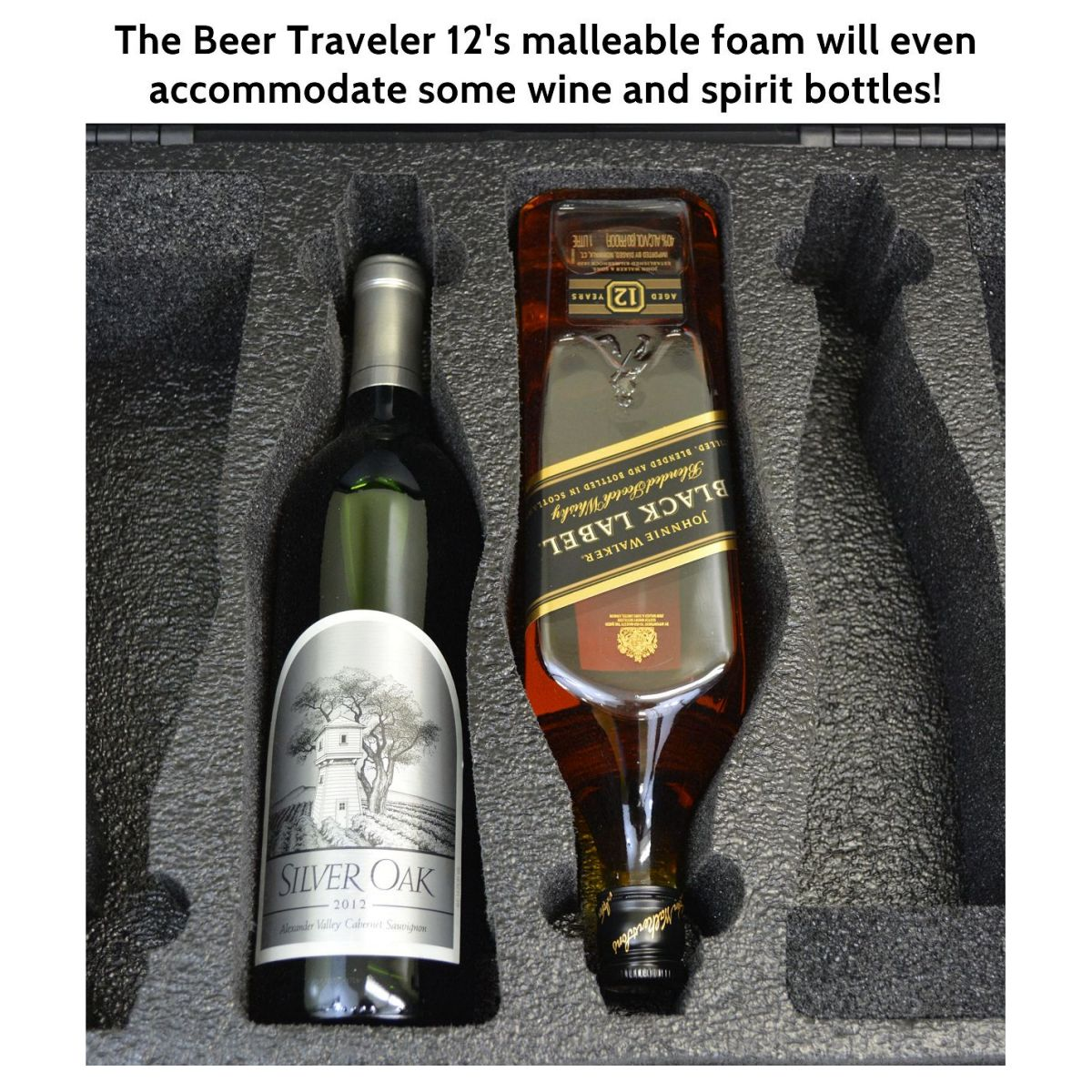 Seahorse SE-920 BC Beer Traveler 12 Custom Foam Case - Wine & Spirits, too!