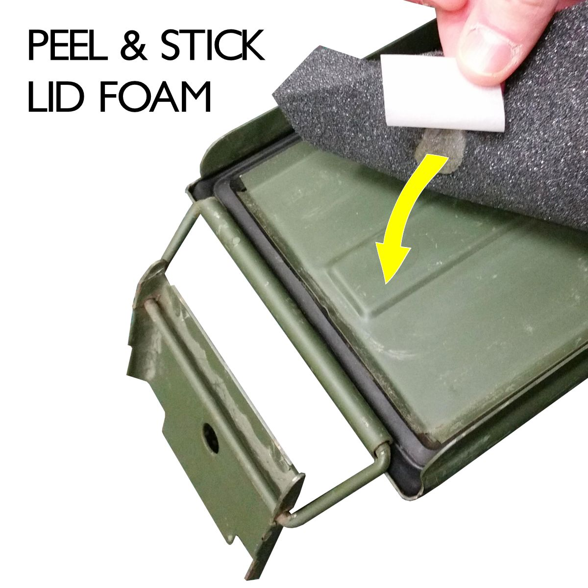 Peel & stick lid foam